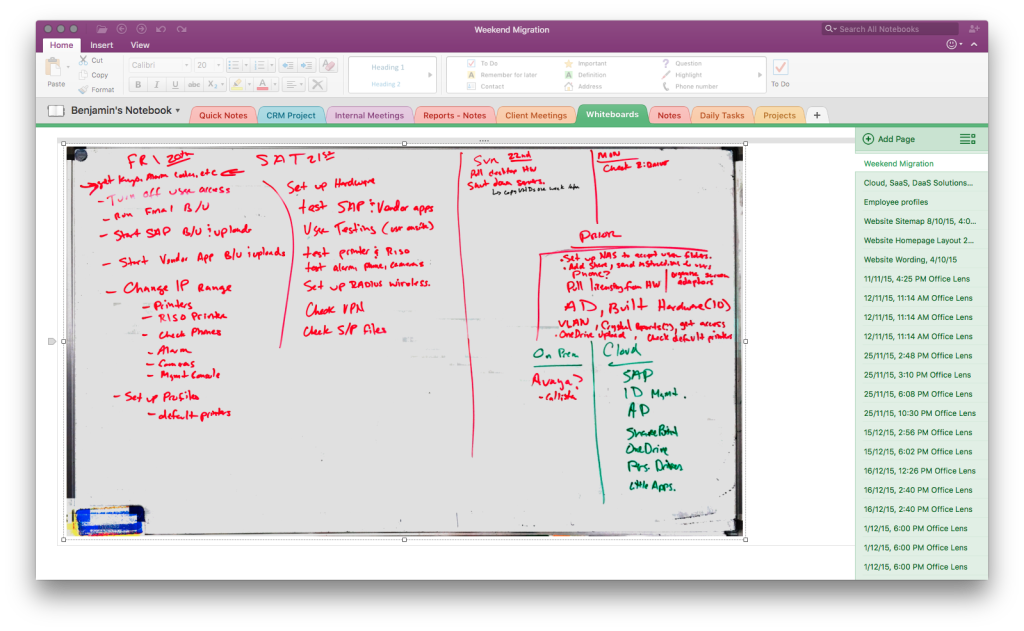 OfficeLens and OneNote