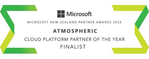 We are a Microsoft Cloud Platform Finalist